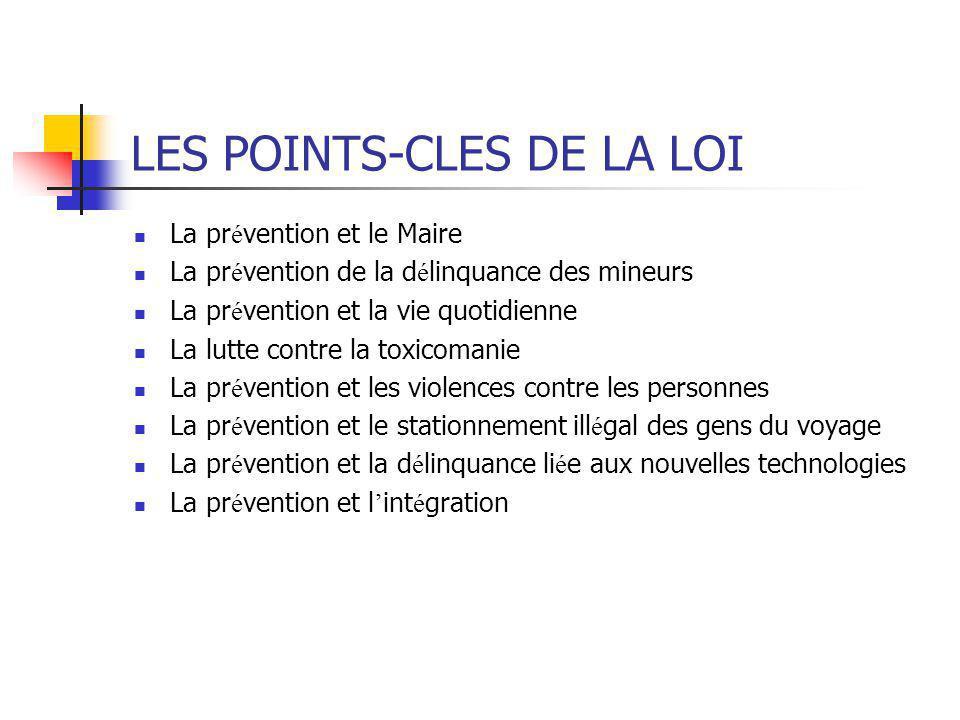 LES POINTS-CLES DE LA LOI