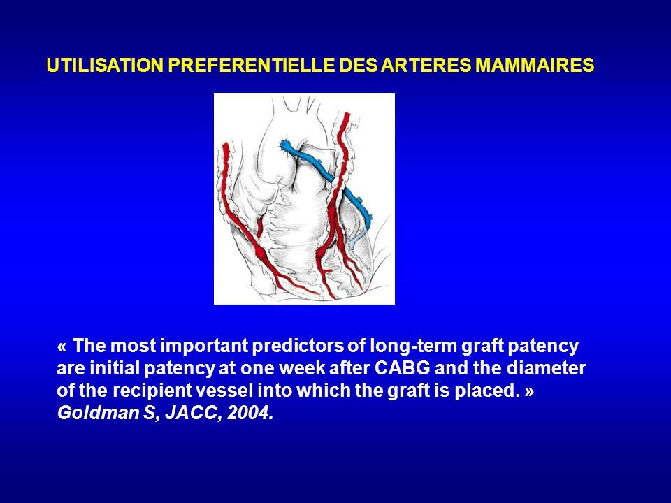 UTILISATION PREFERENTIELLE DES ARTERES MAMMAIRES