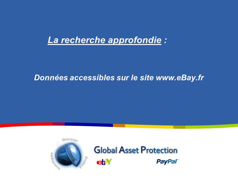 Données accessibles sur le site www.eBay.fr