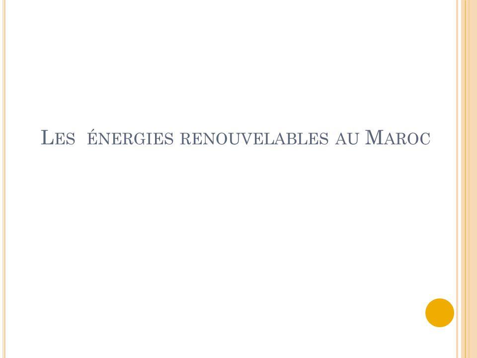 Les énergies renouvelables au Maroc