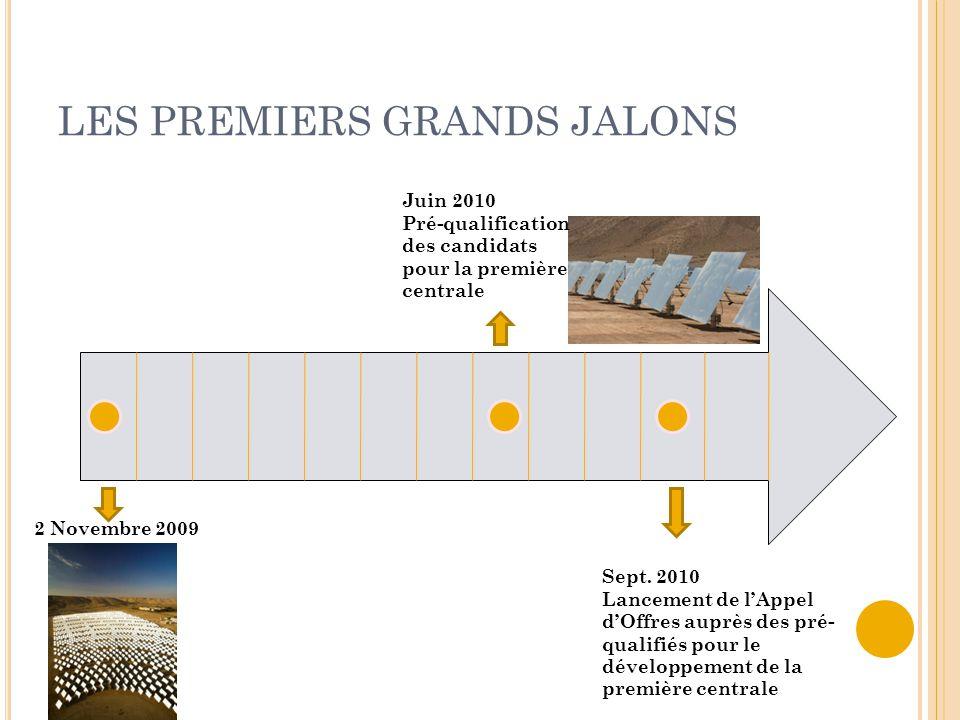 LES PREMIERS GRANDS JALONS