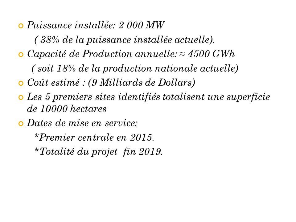 Puissance installée: 2 000 MW