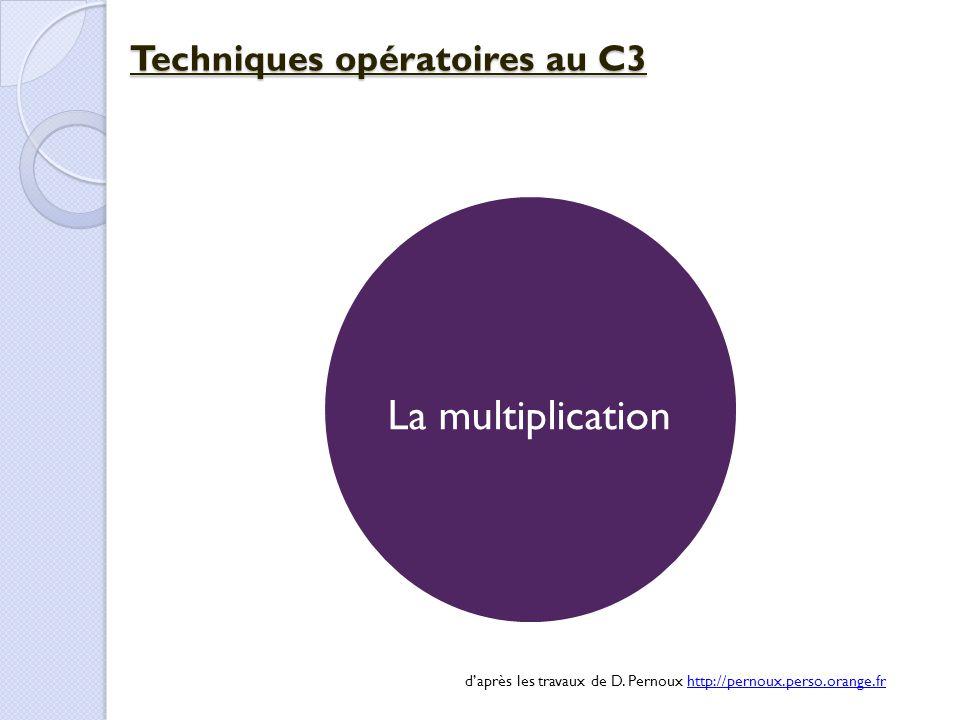 Techniques opératoires au C3