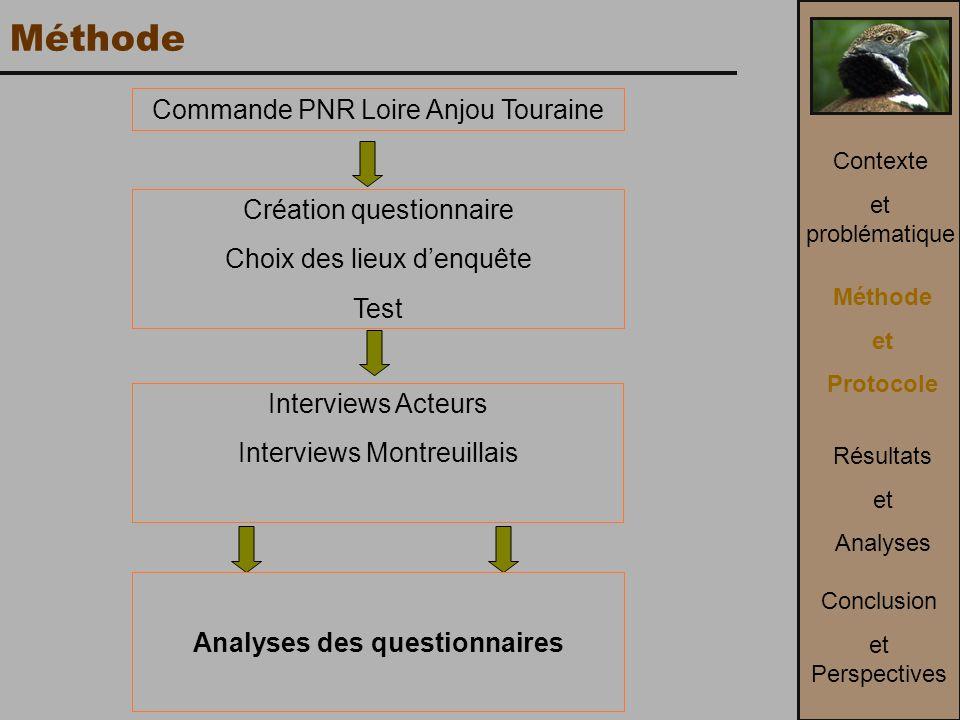 Analyses des questionnaires