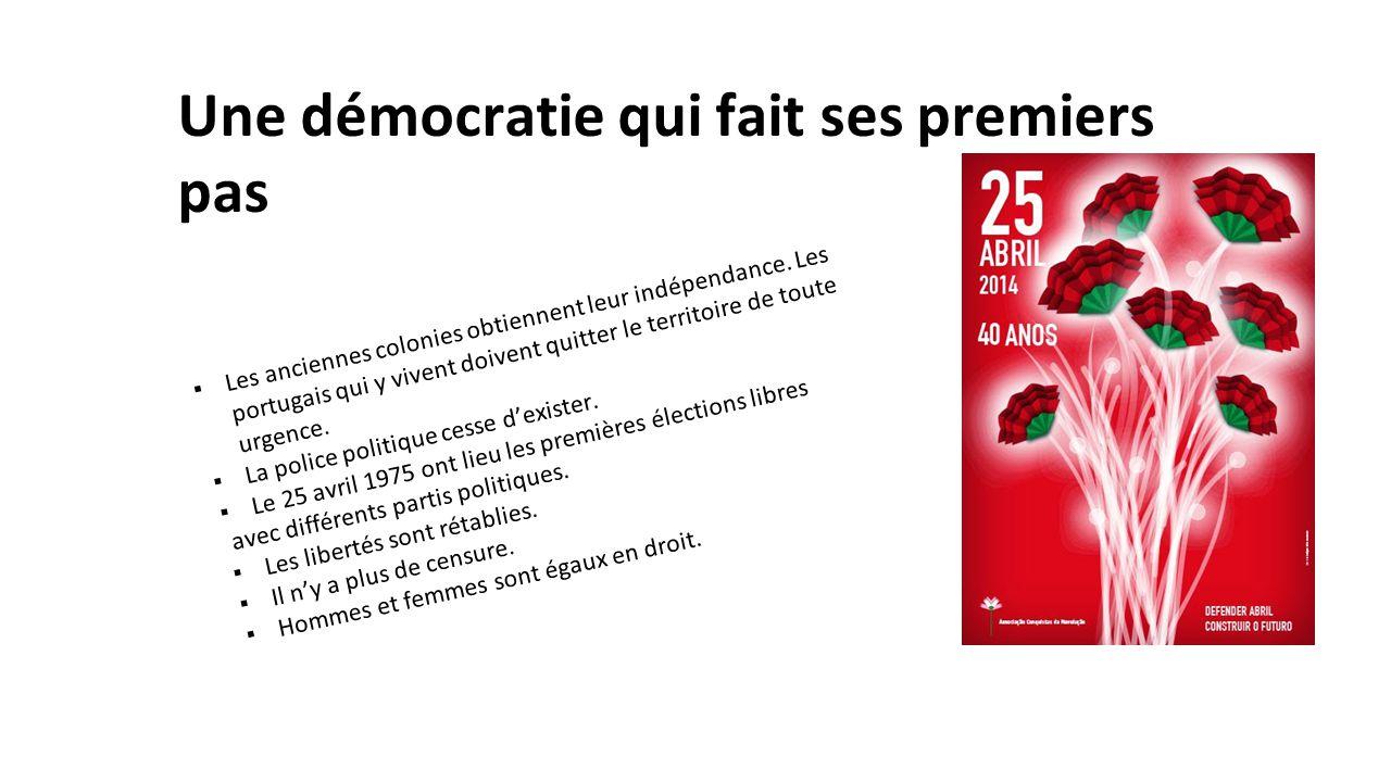 Une démocratie qui fait ses premiers pas