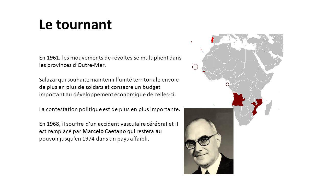 Le tournant En 1961, les mouvements de révoltes se multiplient dans les provinces d'Outre-Mer.
