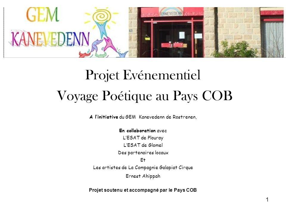 Projet Evénementiel Voyage Poétique au Pays COB