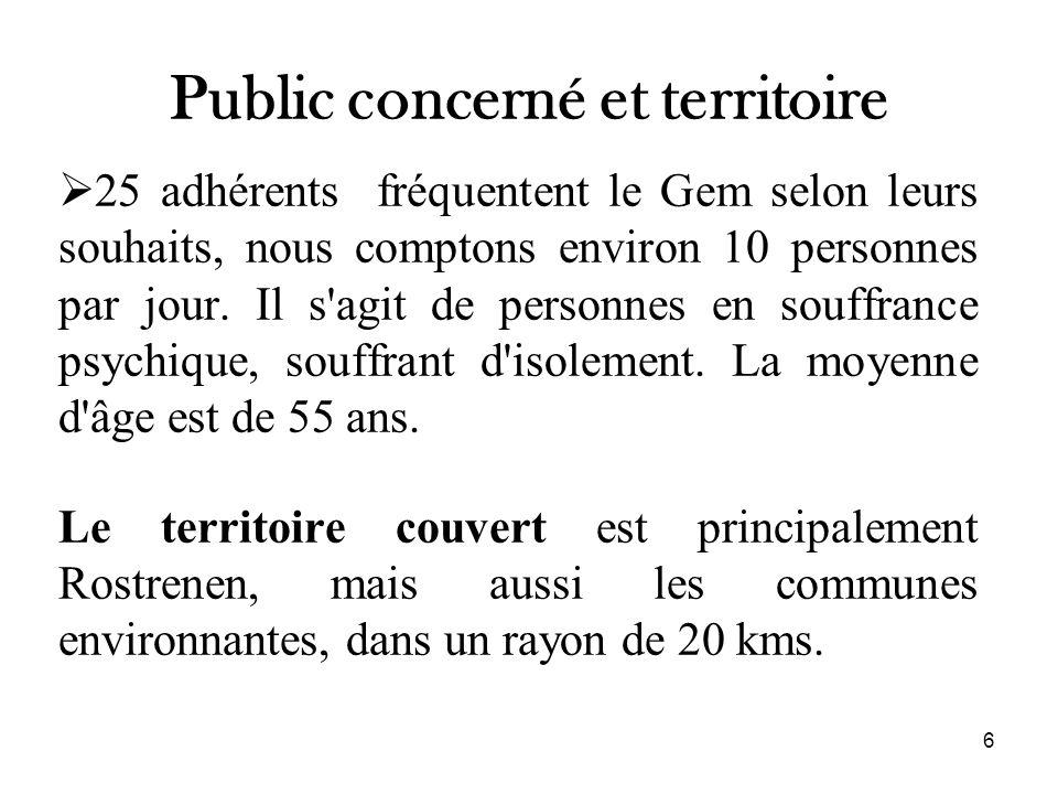 Public concerné et territoire