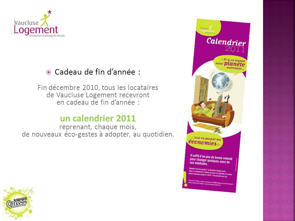 un calendrier 2011 Cadeau de fin d'année :