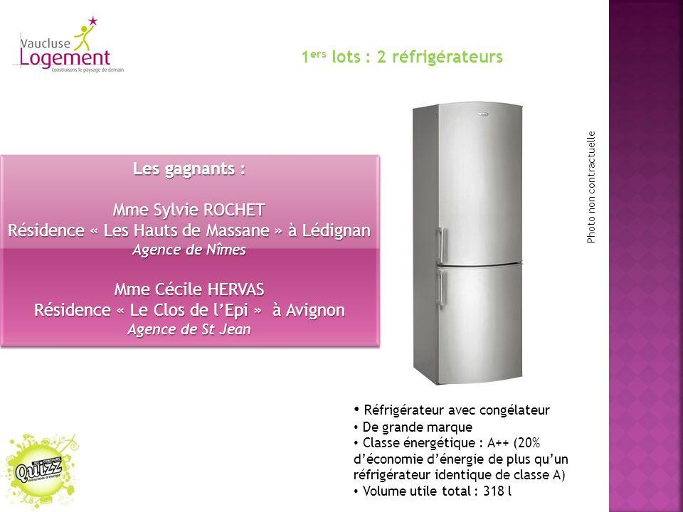 1ers lots : 2 réfrigérateurs