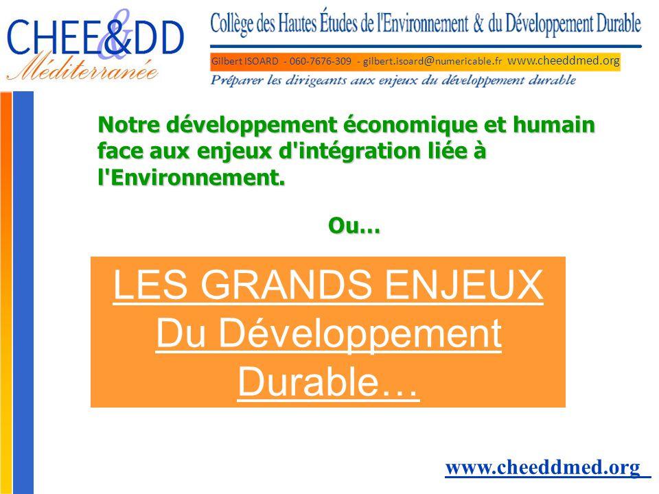 LES GRANDS ENJEUX Du Développement Durable…