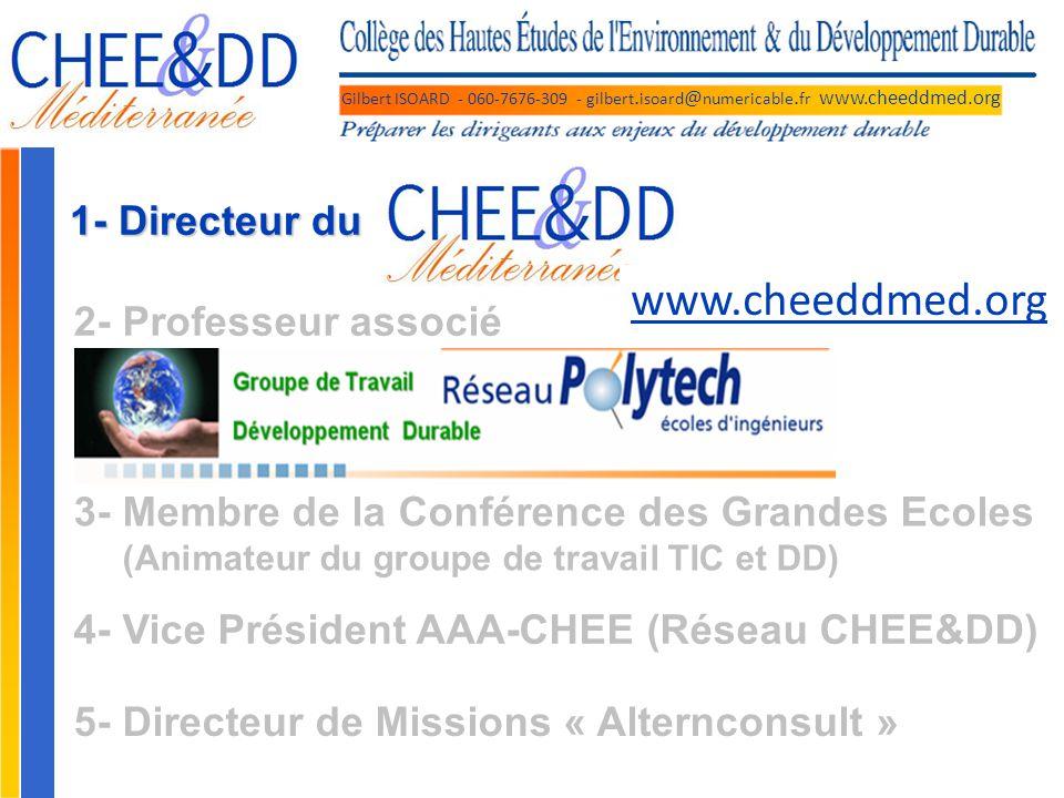 www.cheeddmed.org 1- Directeur du 2- Professeur associé