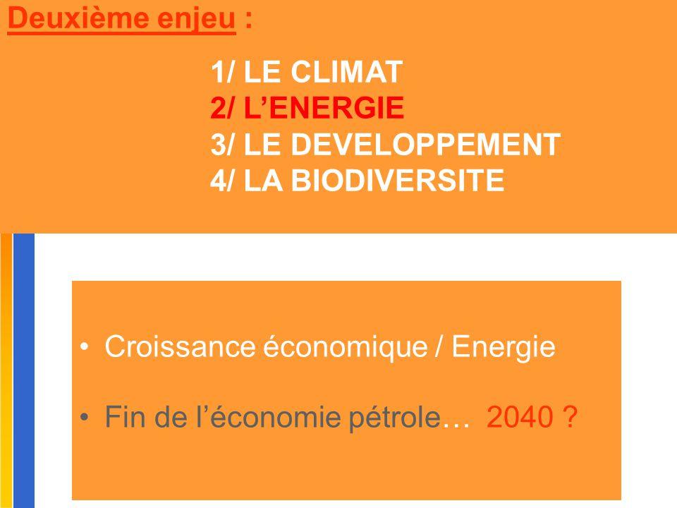 Croissance économique / Energie Fin de l'économie pétrole… 2040