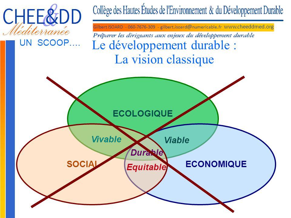 Le développement durable : La vision classique