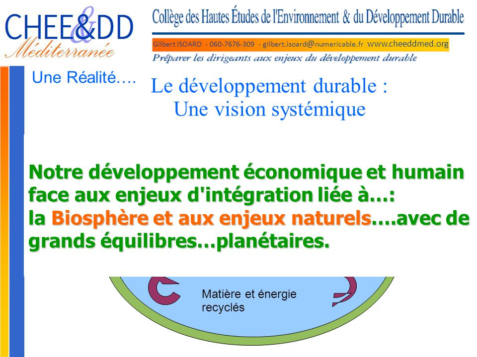 Le développement durable : Une vision systémique