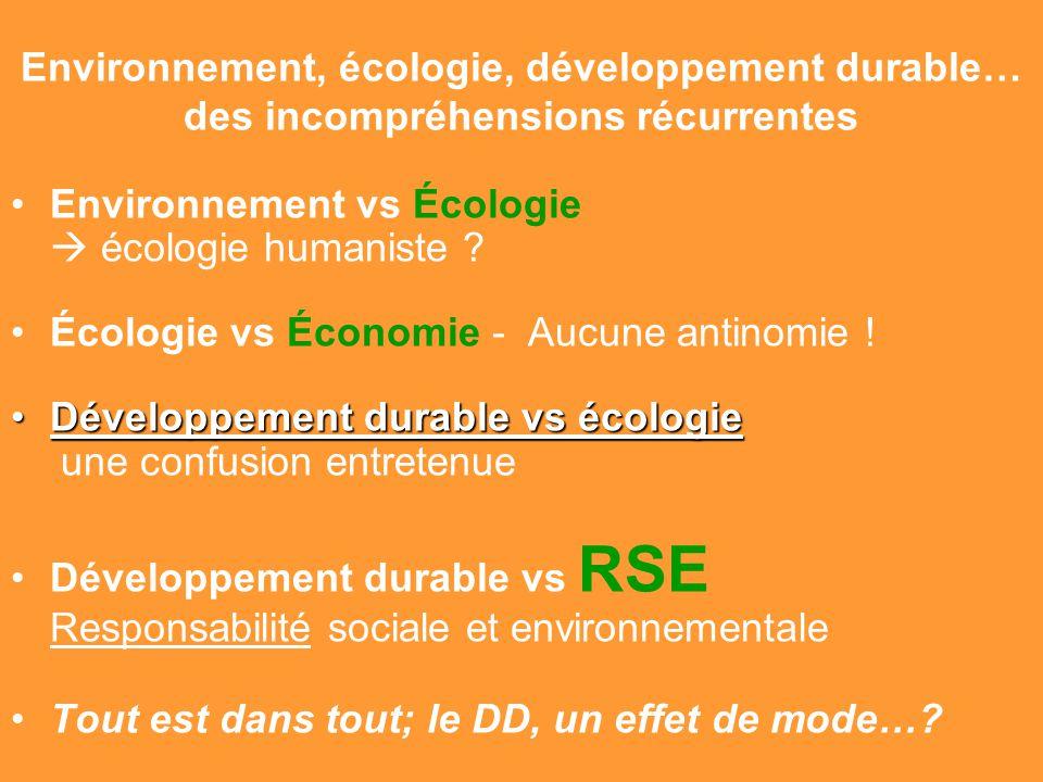 Environnement vs Écologie  écologie humaniste