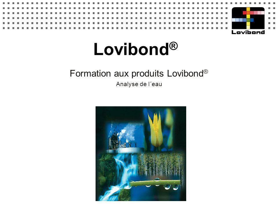 Formation aux produits Lovibond® Analyse de l´eau