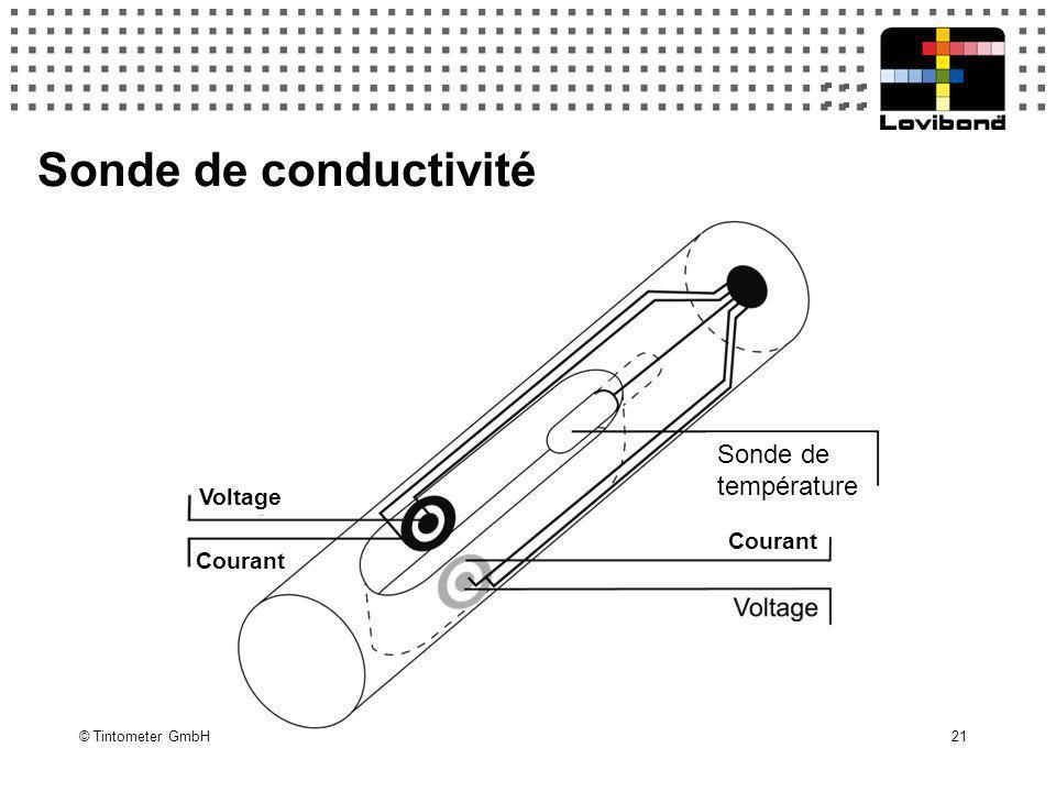 Sonde de conductivité Sonde de température Courant Voltage Courant