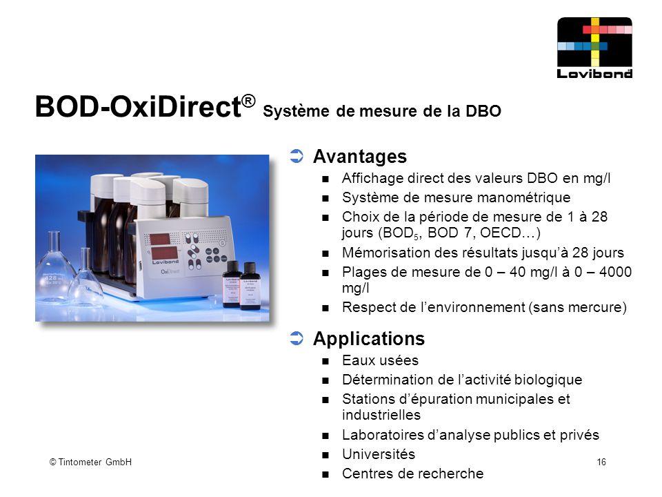 BOD-OxiDirect® Système de mesure de la DBO