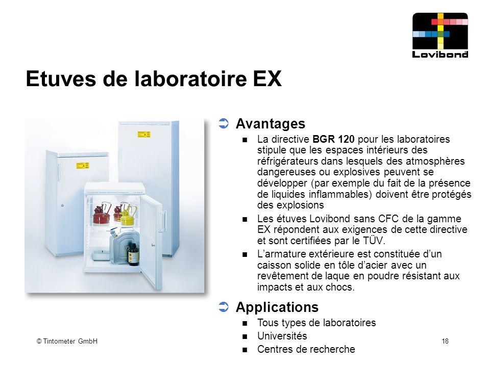 Etuves de laboratoire EX