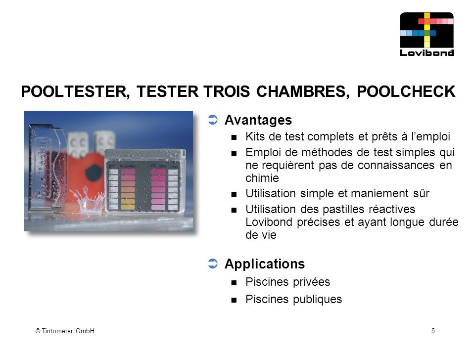 POOLTESTER, TESTER TROIS CHAMBRES, POOLCHECK