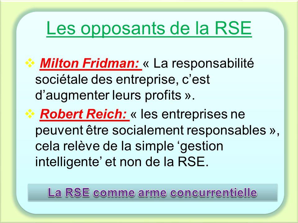 La RSE comme arme concurrentielle