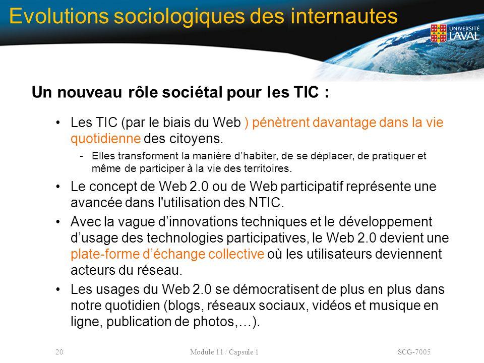 Evolutions sociologiques des internautes