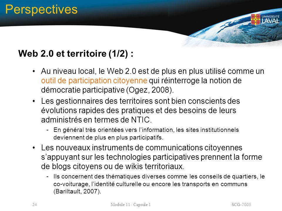 Perspectives Web 2.0 et territoire (1/2) :