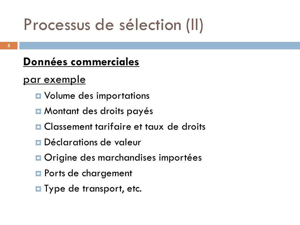 Processus de sélection (II)