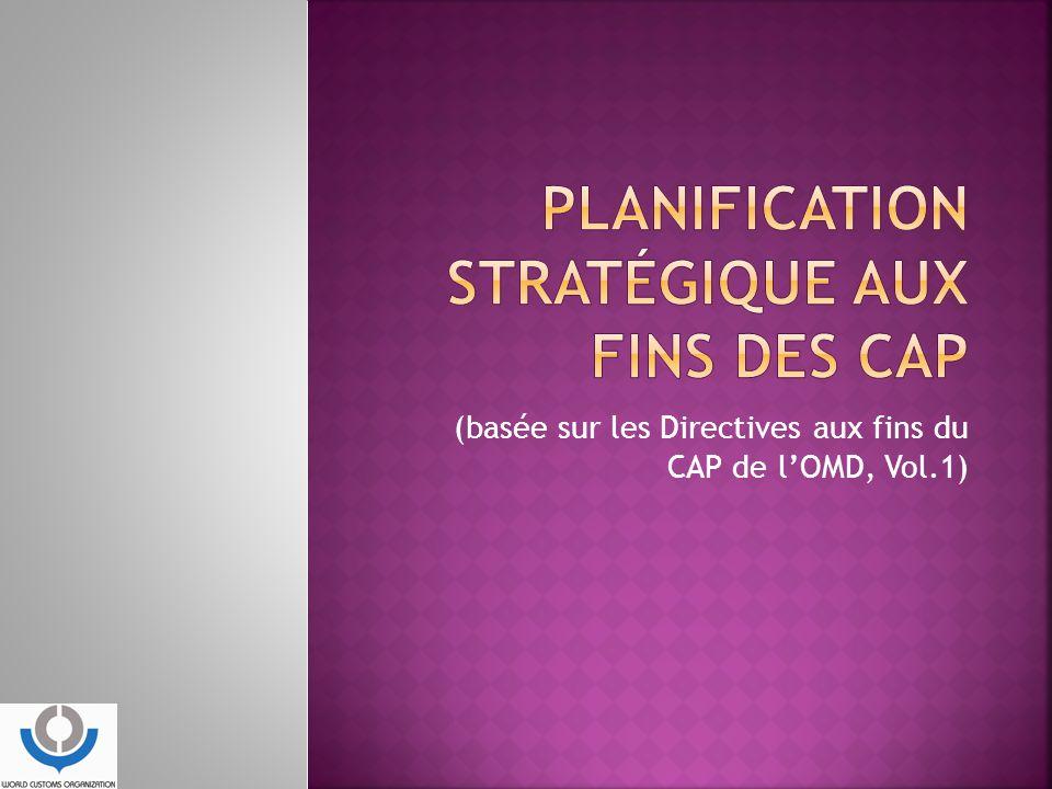 PLANIFICATION STRATÉGIQUE AUX FINS DES CAP