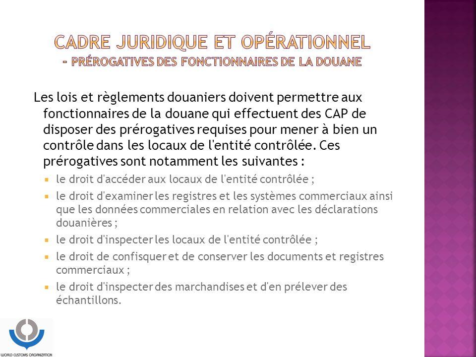 CADRE JURIDIQUE ET OPÉRATIONNEL - Prérogatives des fonctionnaires de la douane