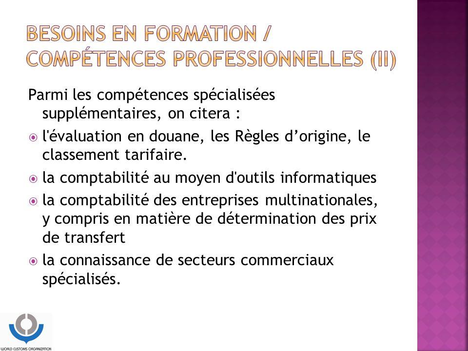 Besoins en formation / compétences professionnelles (II)