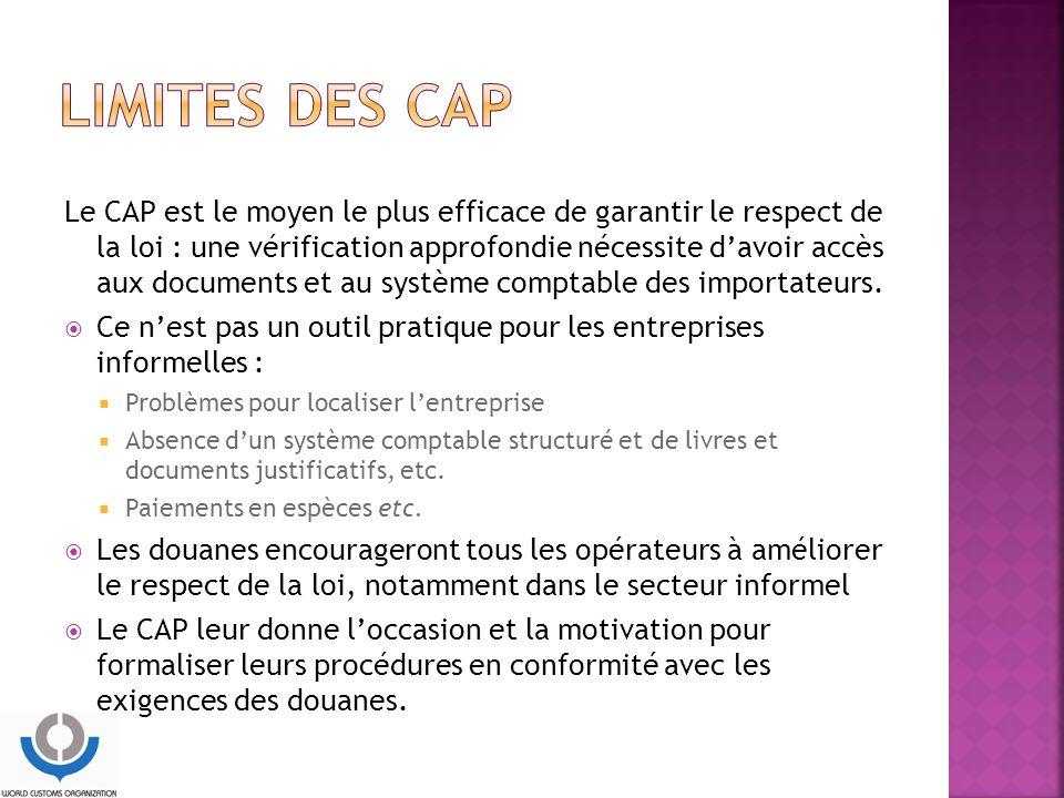 Limites des CAP
