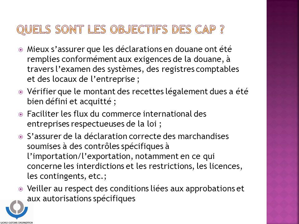Quels sont les objectifs des CAP