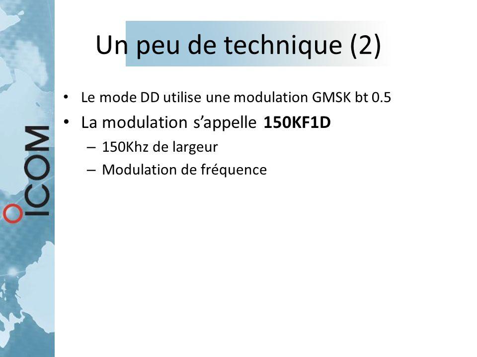 Un peu de technique (2) La modulation s'appelle 150KF1D