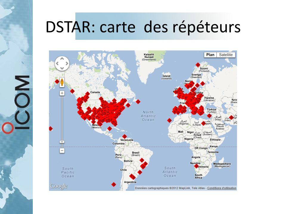 DSTAR: carte des répéteurs