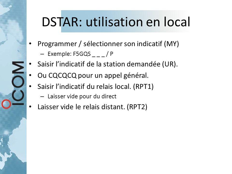 DSTAR: utilisation en local