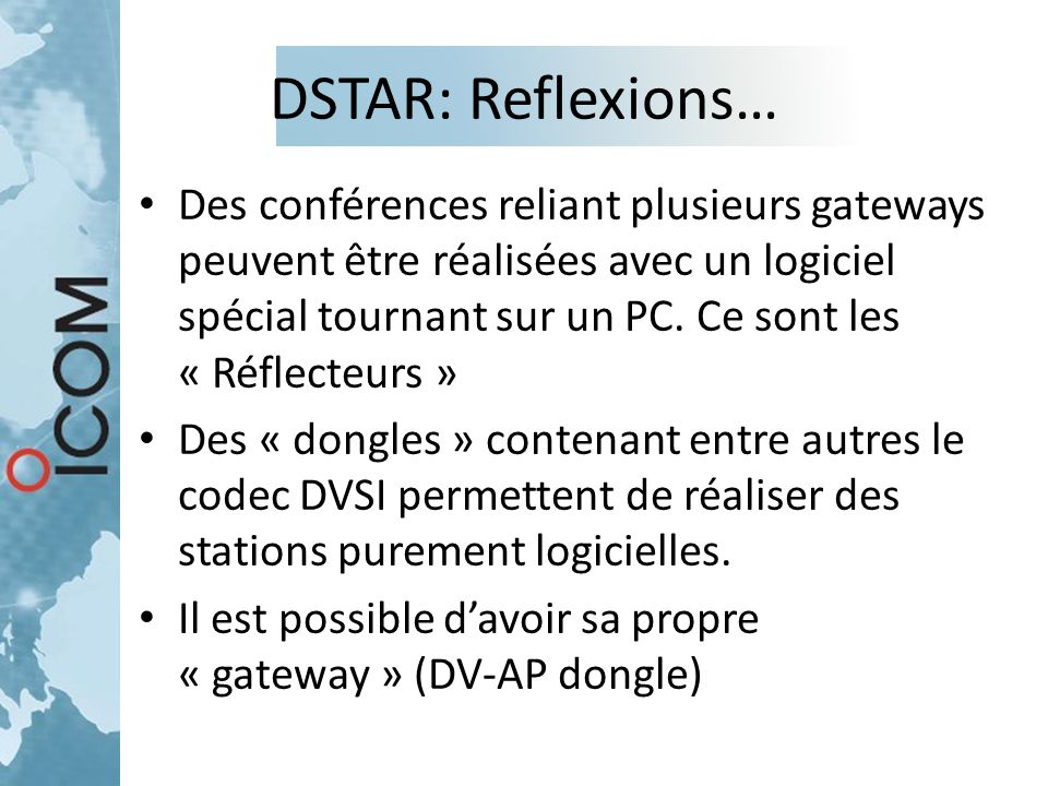 DSTAR: Reflexions…