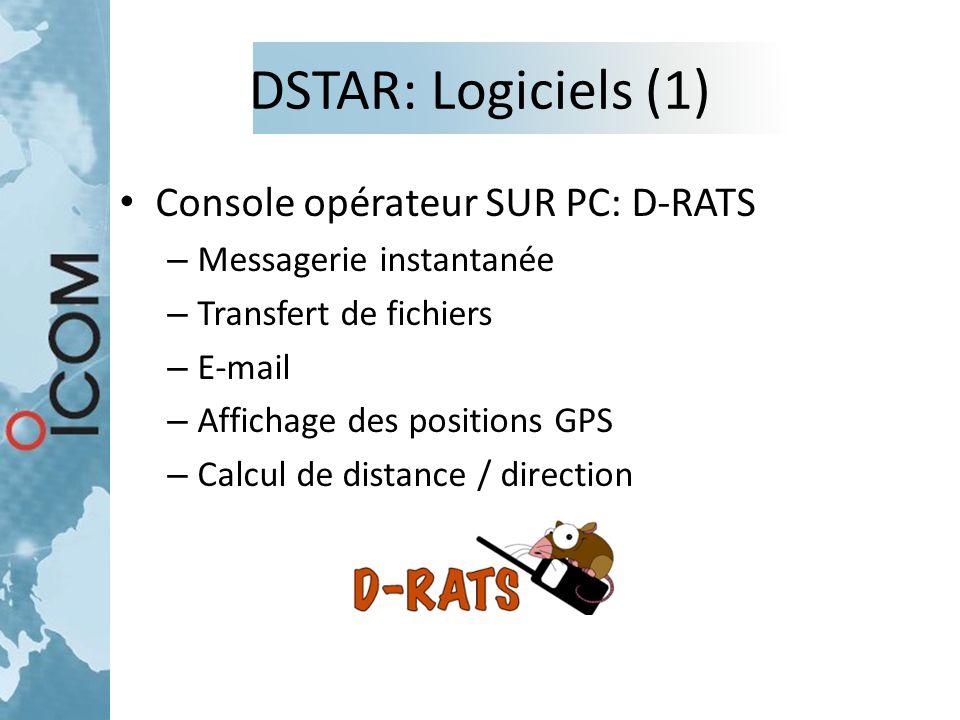 DSTAR: Logiciels (1) Console opérateur SUR PC: D-RATS