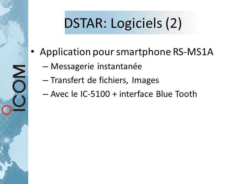DSTAR: Logiciels (2) Application pour smartphone RS-MS1A