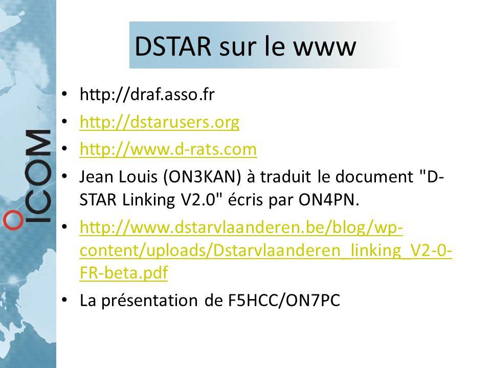 DSTAR sur le www http://draf.asso.fr http://dstarusers.org