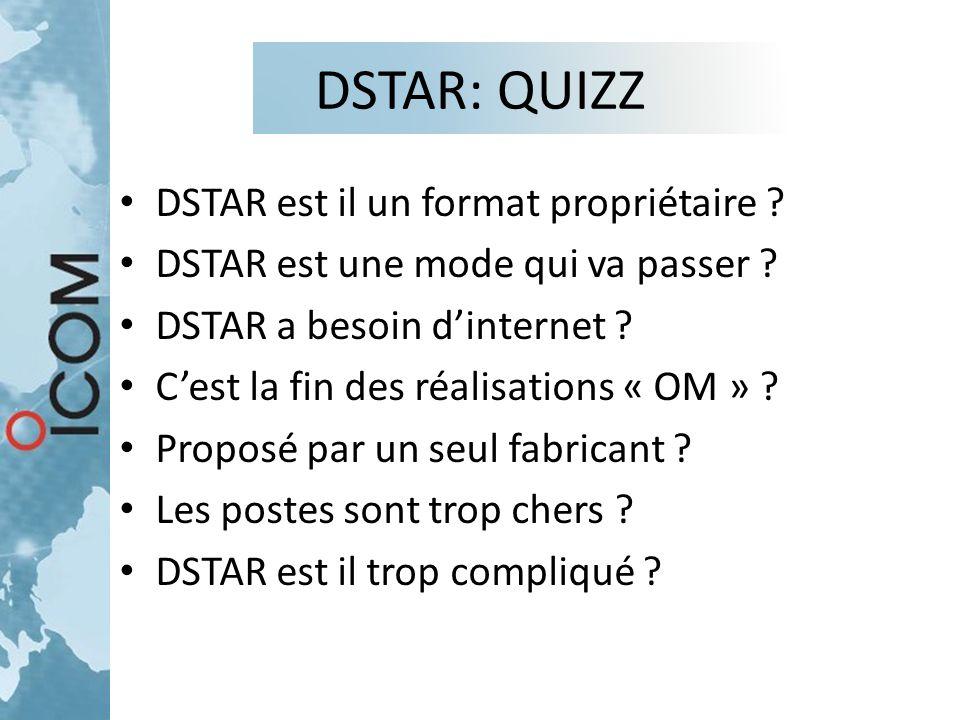 DSTAR: QUIZZ DSTAR est il un format propriétaire
