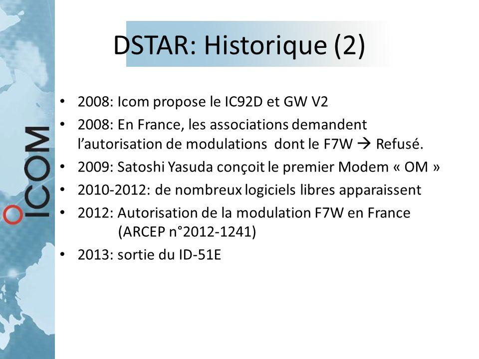DSTAR: Historique (2) 2008: Icom propose le IC92D et GW V2