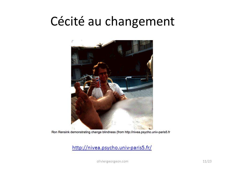 Cécité au changement http://nivea.psycho.univ-paris5.fr/
