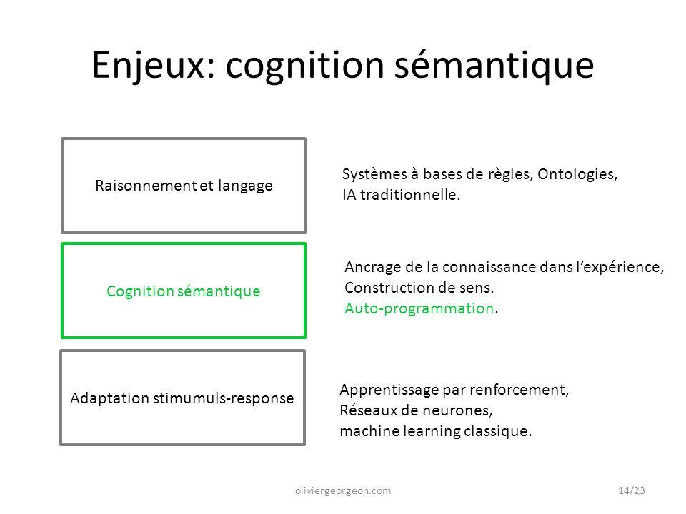 Enjeux: cognition sémantique