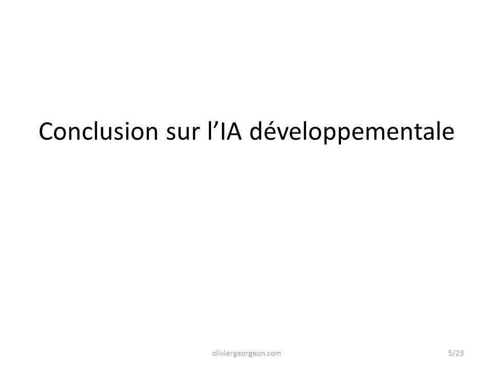 Conclusion sur l'IA développementale