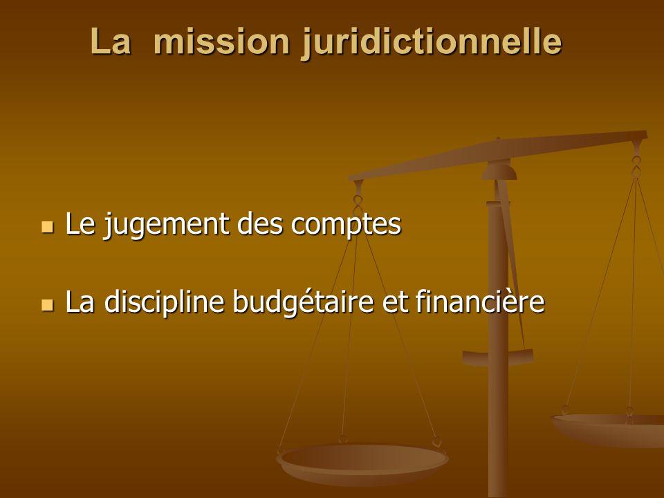 La mission juridictionnelle