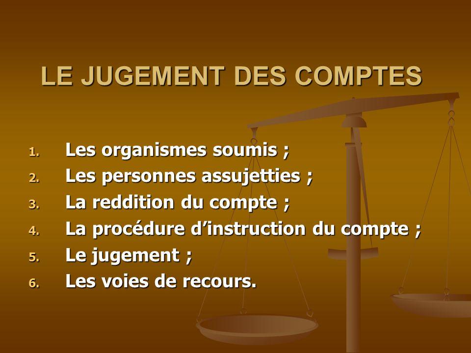 LE JUGEMENT DES COMPTES