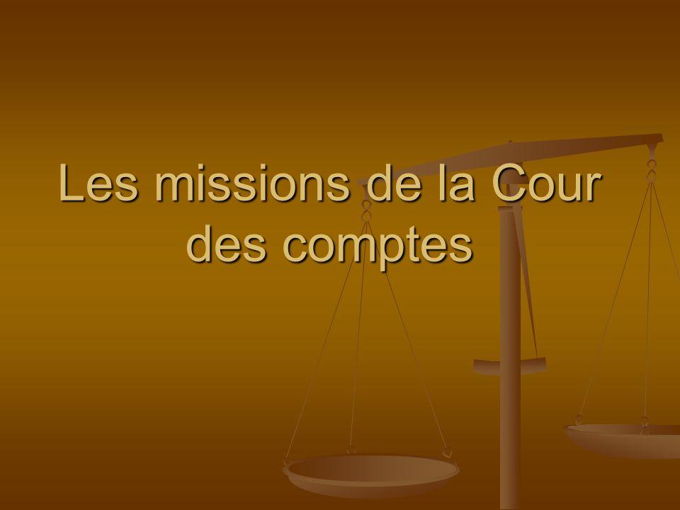 Les missions de la Cour des comptes