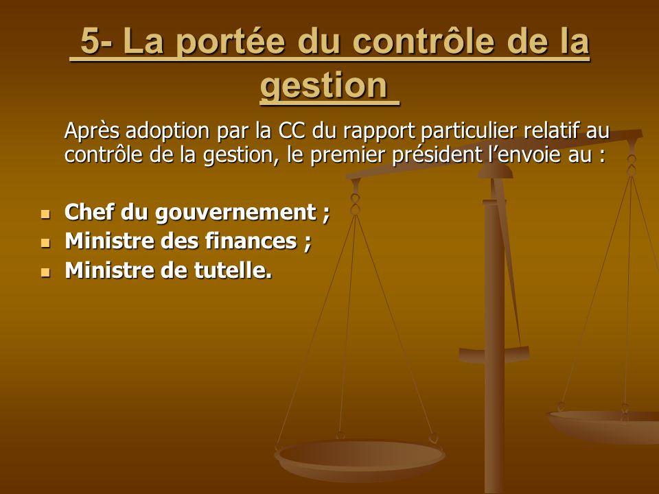 5- La portée du contrôle de la gestion